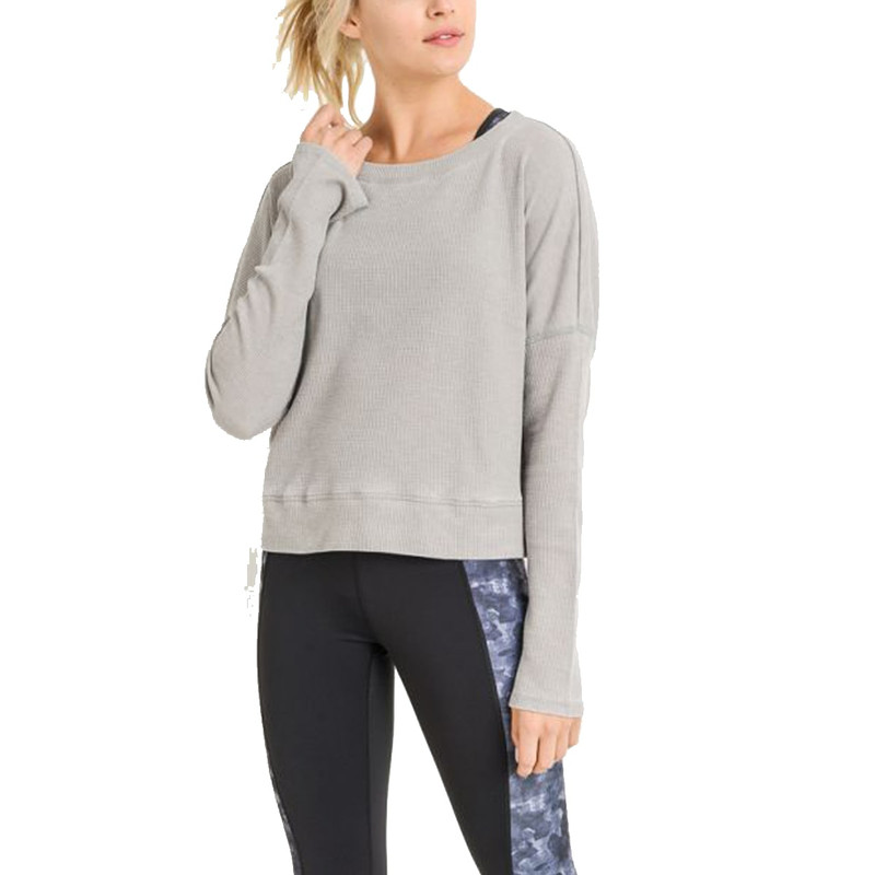 Thermal Edit-Length Pullover in Light Grey Color