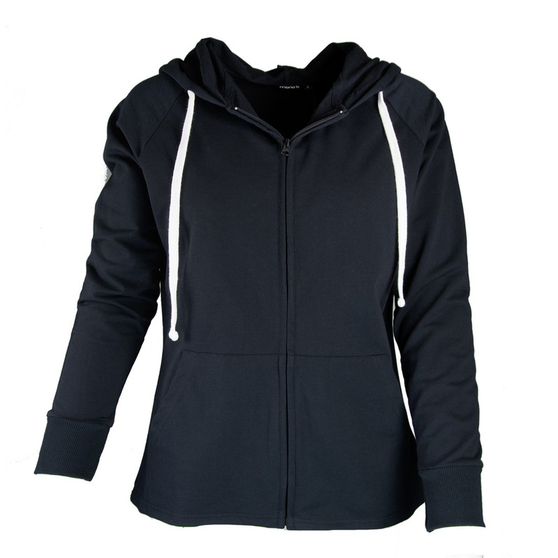 Mono B Women's Zip Up Hoodie Jacket in Black Color
