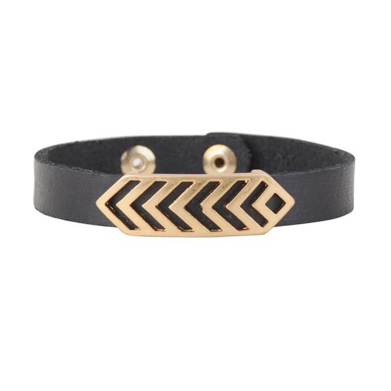 Most Wanted Chevron Band Bracelet in Black