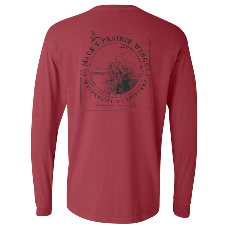 MPW Merchant Ad Long Sleeve T-Shirt in Crimson Color