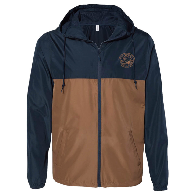 MPW Lightweight Windbreaker in Classic Navy Saddle Color