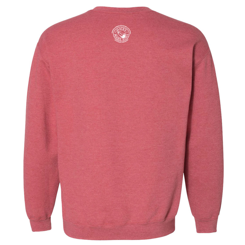 MPW Ladies Baggy Sweatshirt in Heather Sport Scarlet Color