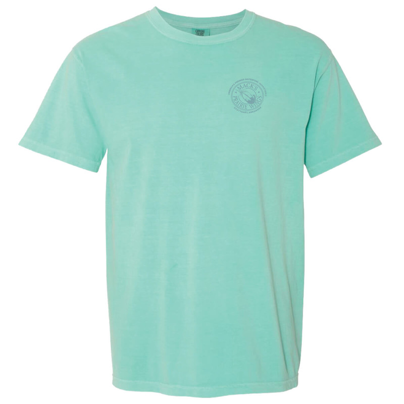 MPW Ladies Short Sleeve Snakeskin Tee in Chalky Mint Color