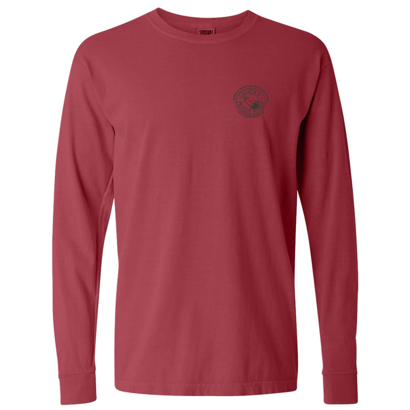 MPW Ladies Tonal Stacked Long Sleeve T-Shirt in Red Color