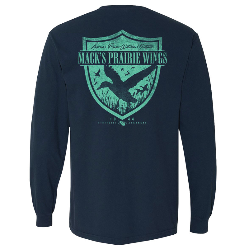 MPW Duck Shield Long Sleeve T-Shirt in Denim Color