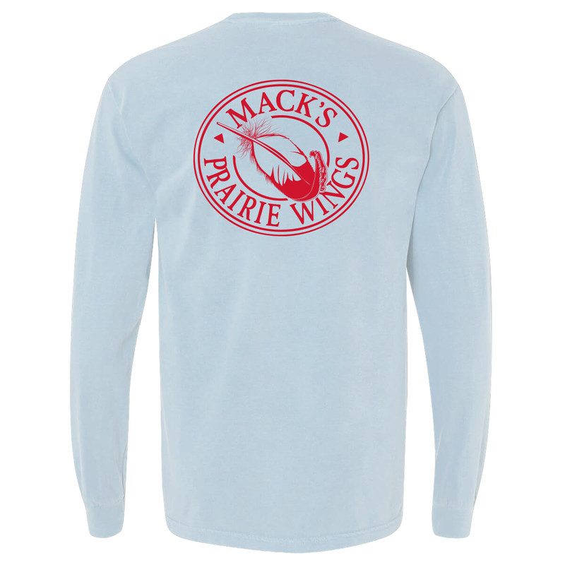MPW Full Logo Adult Long Sleeve Tee in Chambray Color