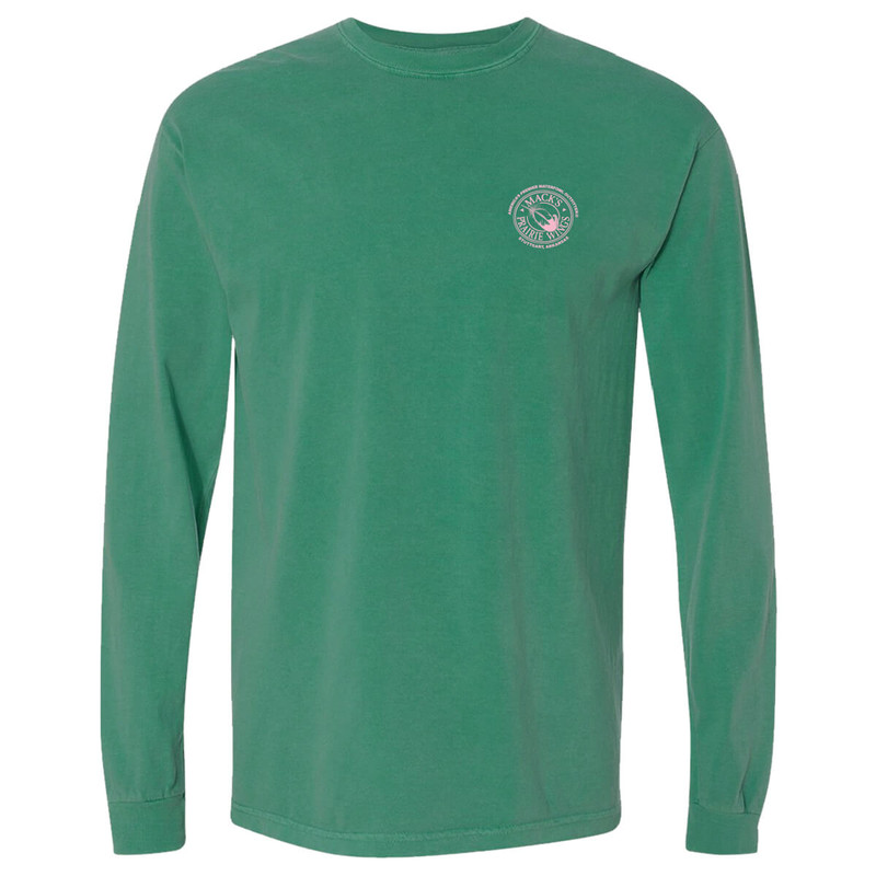 MPW Full Logo Adult Long Sleeve Tee in Island Green Color