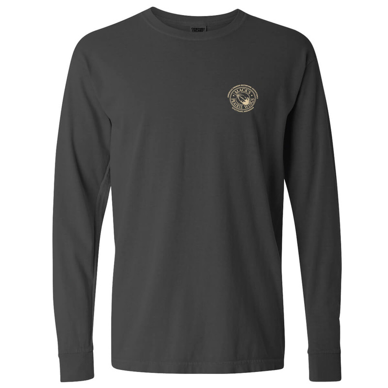 MPW Full Logo Adult Long Sleeve Tee in Pepper Color