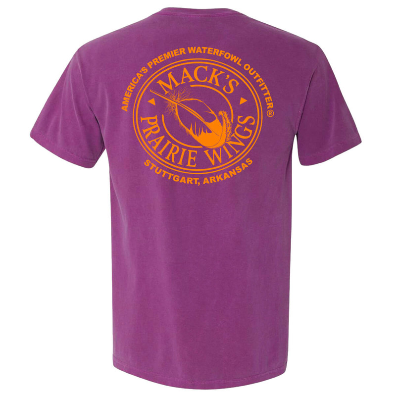 MPW Full Logo Adult Short Sleeve Tee in Boysenberry Color