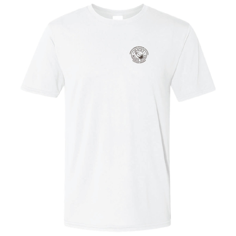 MPW Performance Watercolor Feather Short Sleeve T-Shirt in White Color