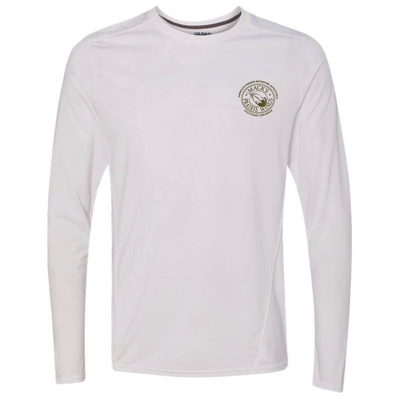 MPW Performance Full Logo Long Sleeve T-Shirt in White Color