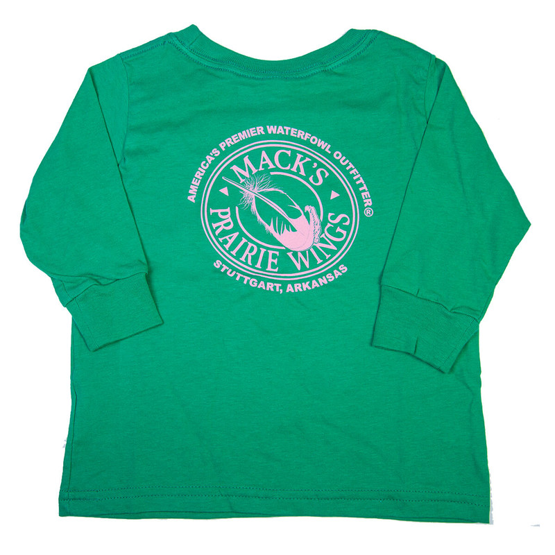 MPW Toddler Full Logo Long Sleeve T-Shirt in Kelly Green Color