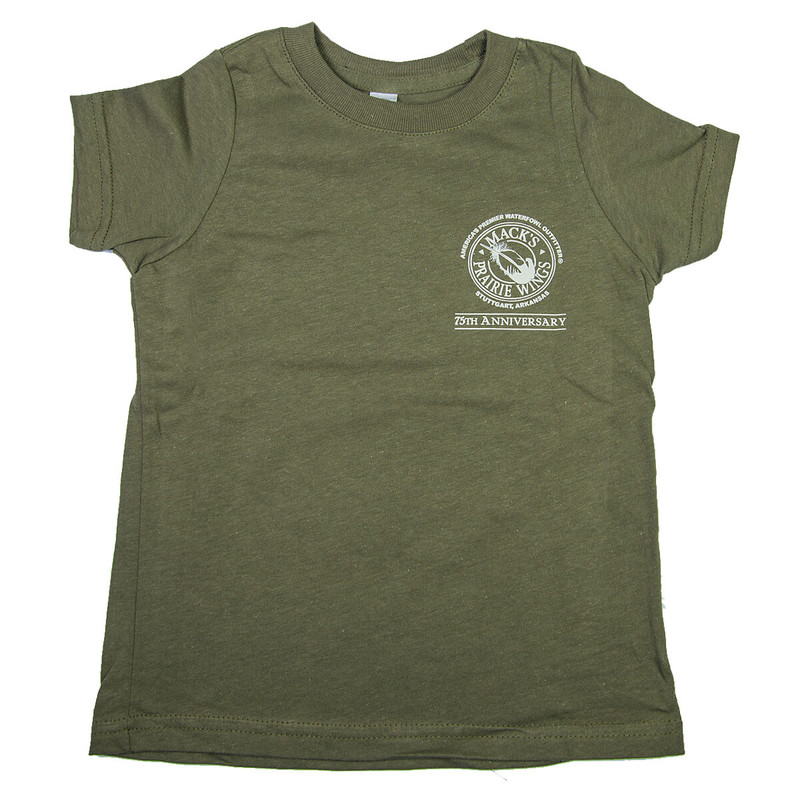 MPW Youth 75th Anniversary Sunset Short Sleeve T-Shirt in Military Green Color