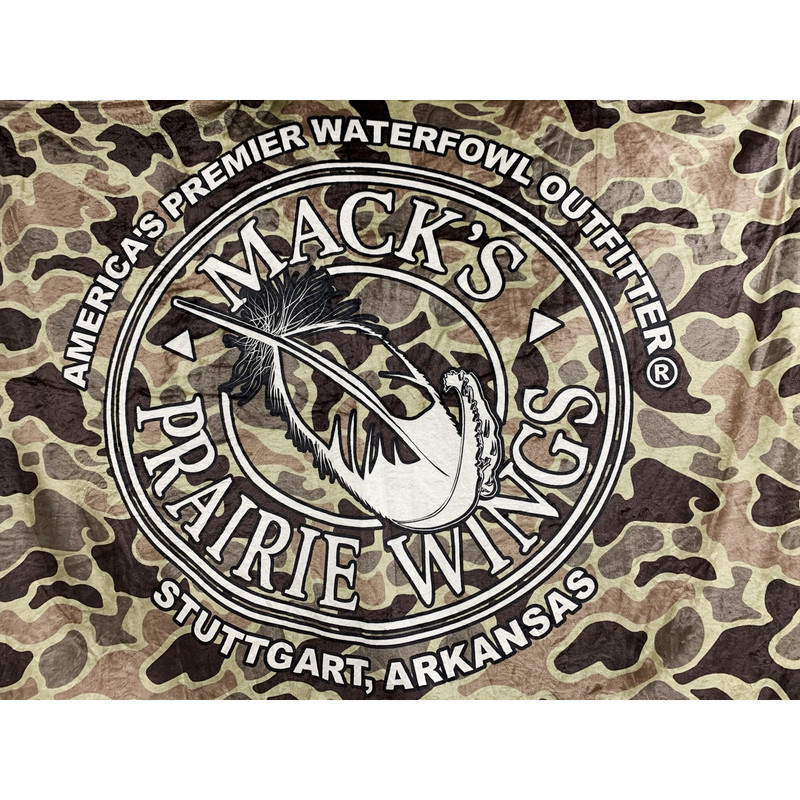 MPW Tahoe Oversize Throw in Old School Camo Color