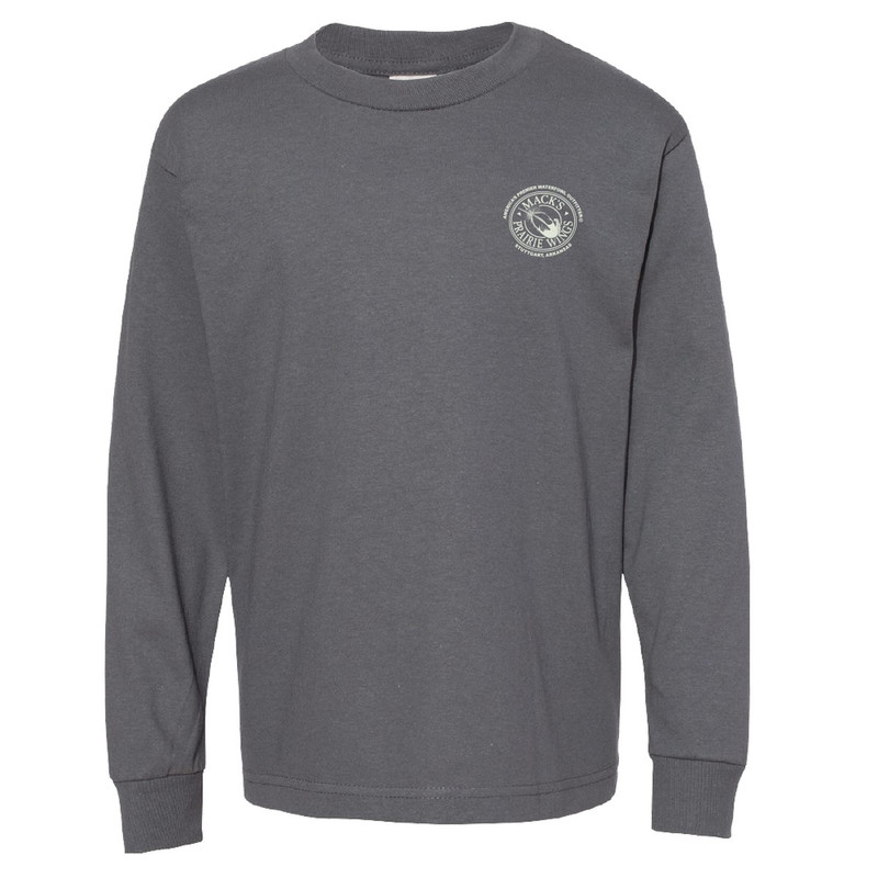 MPW Youth Long Sleeve Proud Retriever Tee in Charcoal Color