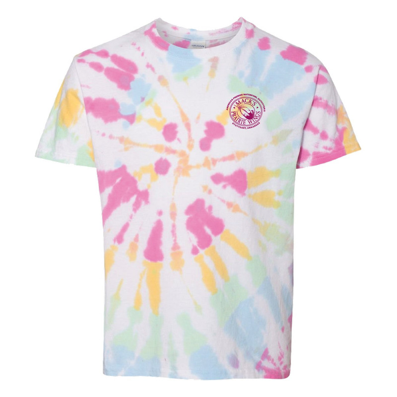 MPW Youth Girls Short Sleeve Tie Die Full Logo in Devine Color