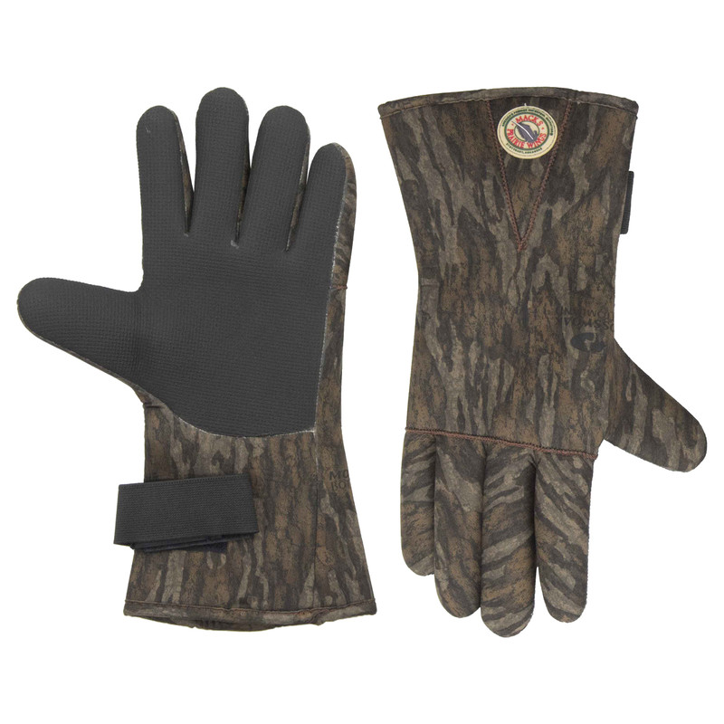 MPW The Brushy Slough Neoprene Decoy Glove in Mossy Oak Bottomland Color
