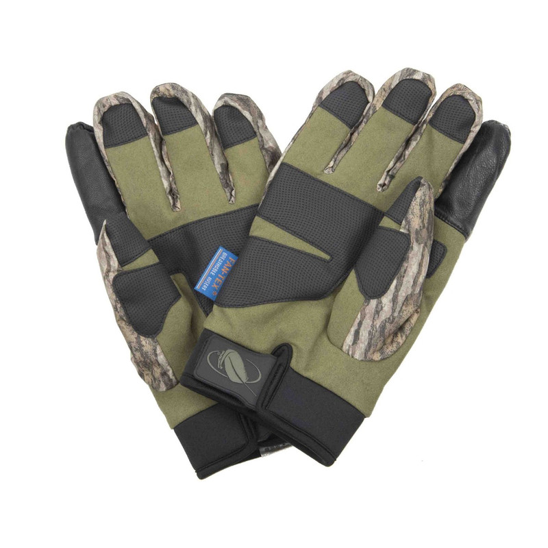MPW Cutt Bluff Waterproof Insulated Hunting Gloves in Mossy Oak Bottomland Color
