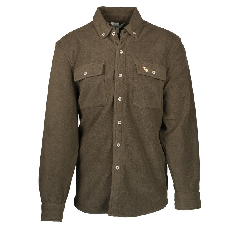 MPW Early Bird 7-Button Fleece Shirt in Brown Color