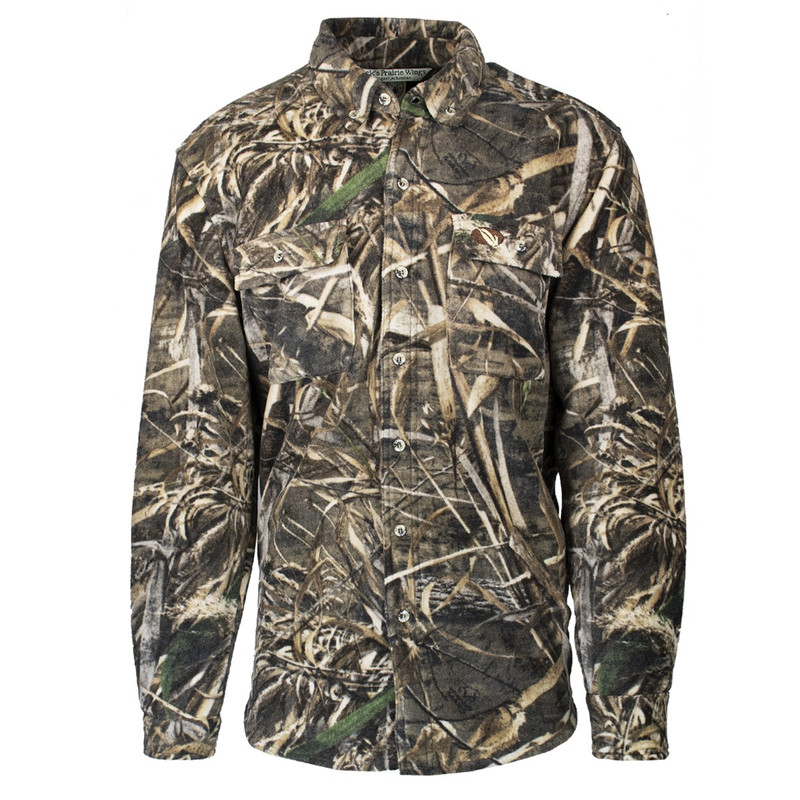 MPW Early Bird 7-Button Fleece Shirt in Realtree Max 5 Color