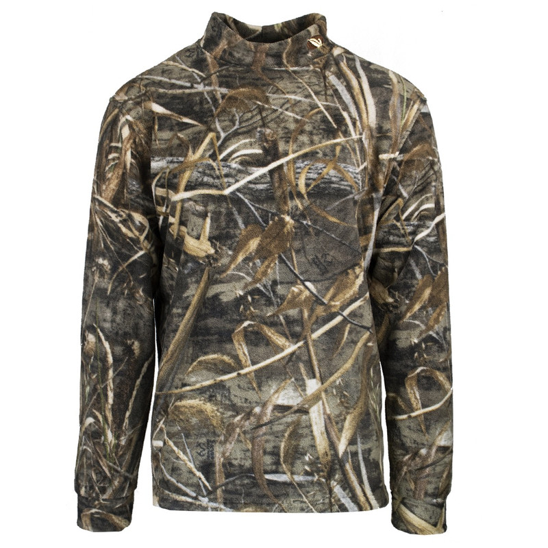 MPW Early Bird Fleece Mock Shirt in Realtree Max 5 Color