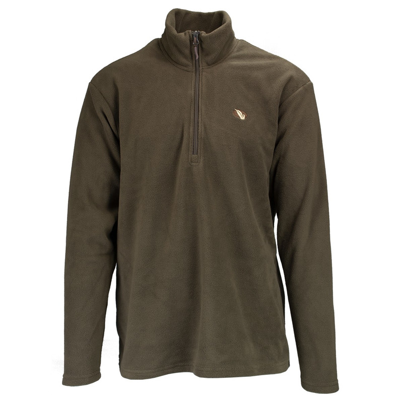 MPW Mens Early Bird Quarter Zip Fleece Pullover in Mud Color