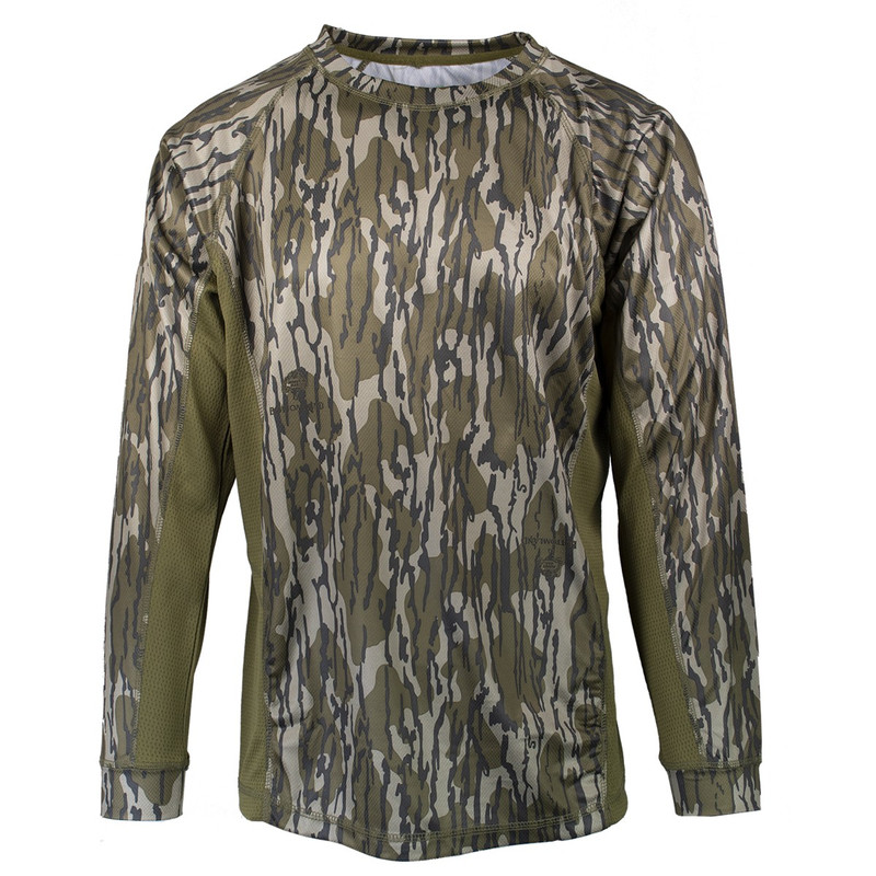 MPW Moisture Wicking Long Sleeve Shirt in Mossy Oak Bottomland Color
