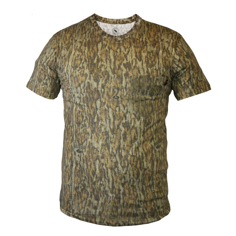 Deluxe Explorer Short Sleeve T Shirt in Mossy Oak Bottomland Color
