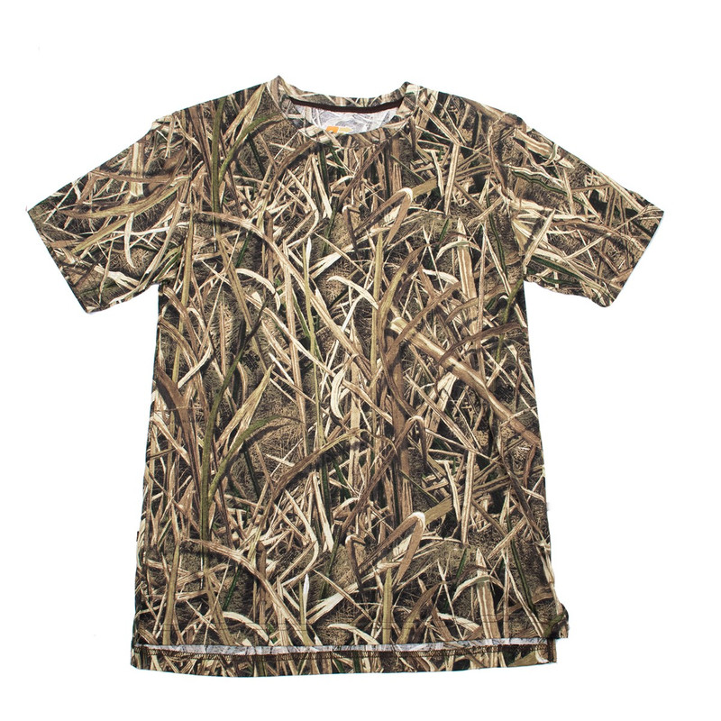 Deluxe Explorer Short Sleeve T Shirt in Mossy Oak Shadow Grass Blades Color