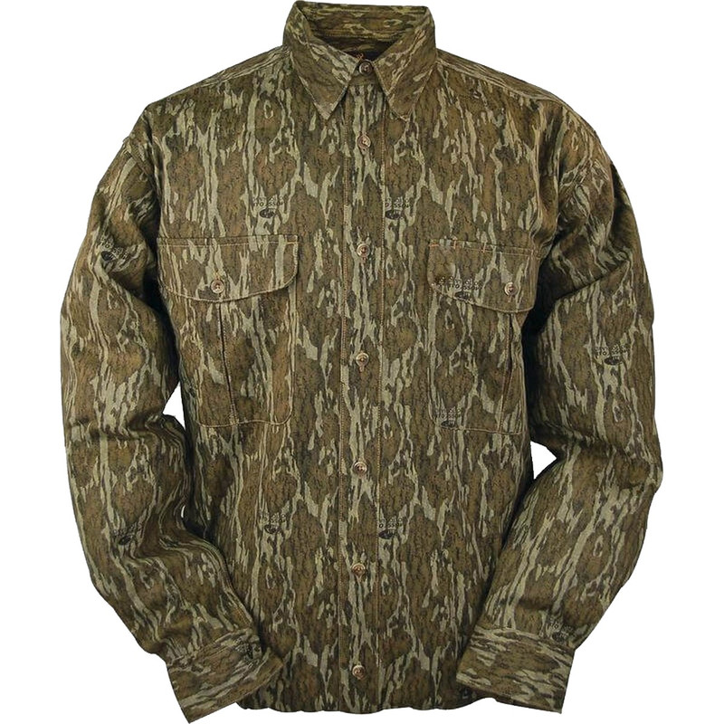 MPW Stalker 7 Button Down Shirt in Mossy Oak Bottomland Color