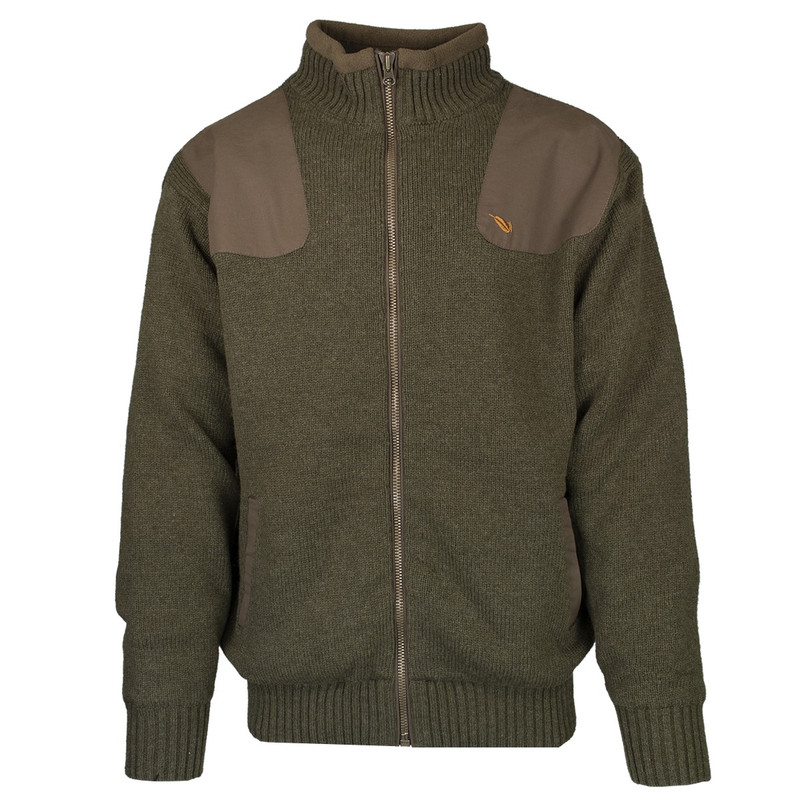 MPW Geridge WindTamer Wool Full Zip Sweater in Olive Color