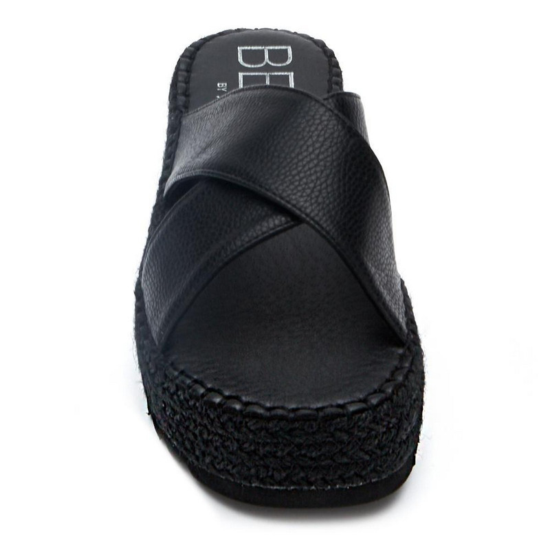 Matisse Cove Criss-Cross Slide in Black Color