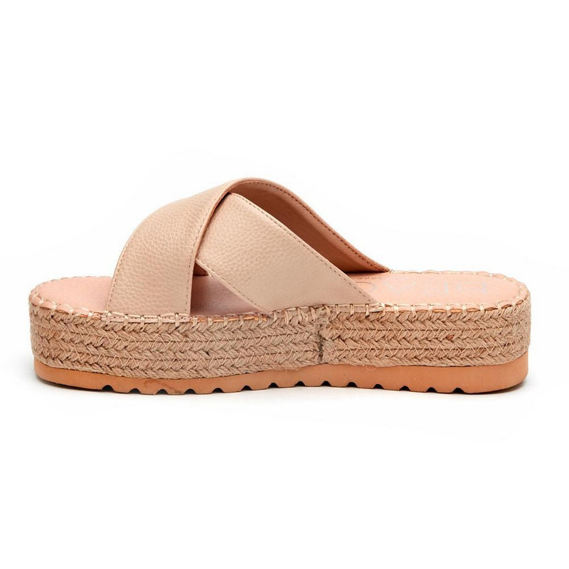 Matisse Cove Criss-Cross Slide in Natural Color