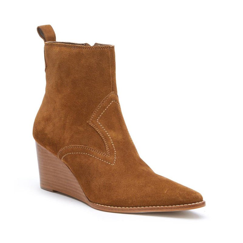 Matisse Essentials Wedge Bootie in Fawn Color