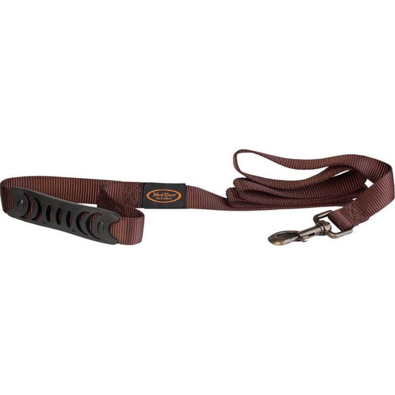 Mud River The Hatch Brass Clip Dog Leash in Brown Color