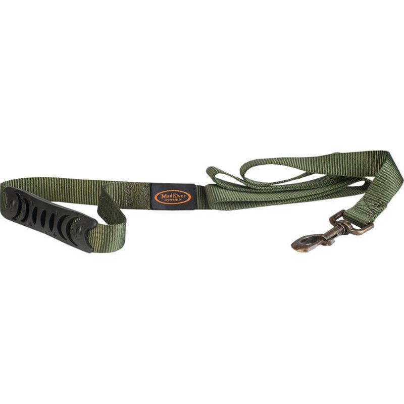 Mud River The Hatch Brass Clip Dog Leash in Green Color