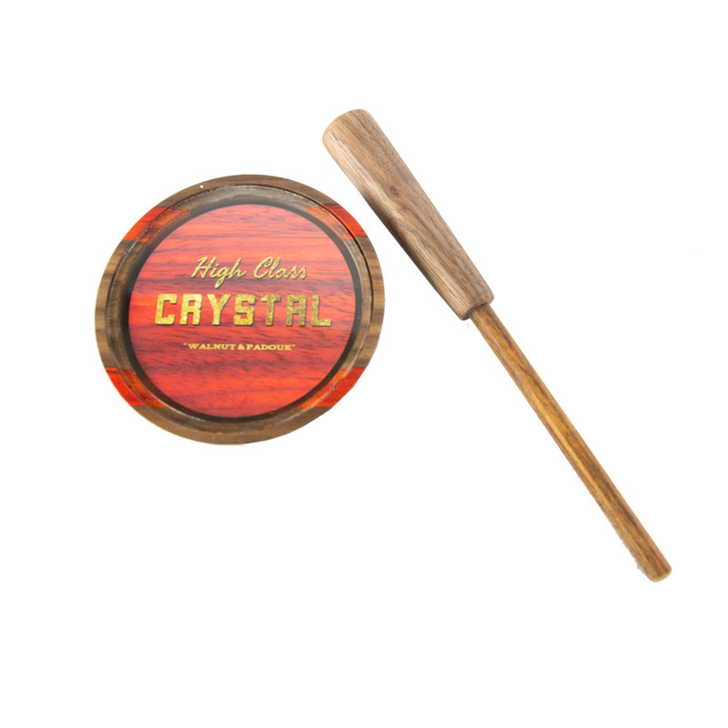 High Class Calls Walnut Paduak Glass Turkey Pot Call