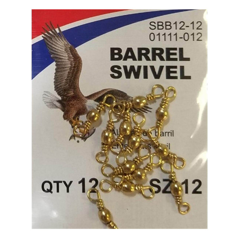 Eagle Claw Barrel Swivels in 12 ALL SIZES