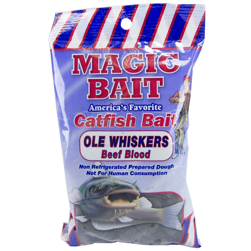 Magic Bait Ole Whiskers Catfish Bait Beef Blood