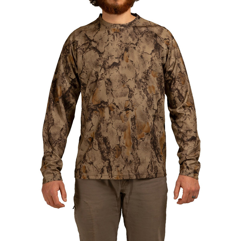 Natural Gear Long Sleeve Tech Tee in Natural Gear Color