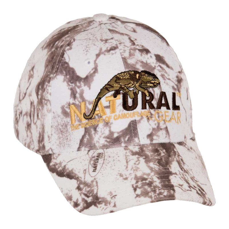 Natural Gear Snow Camo Cap in Snow Item Style