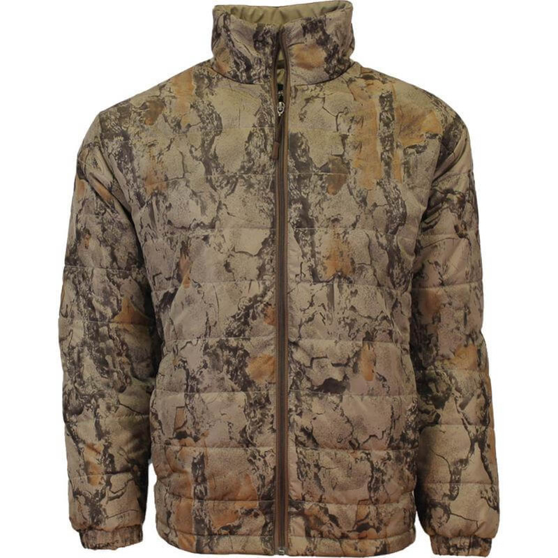 Natural Gear Camo Puffer Jacket in Natural Color