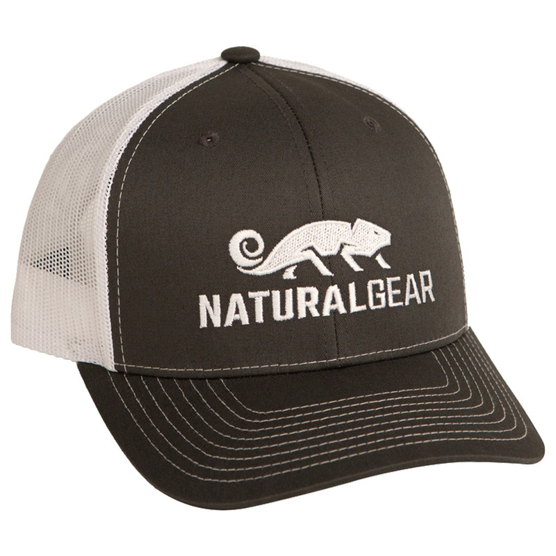 Natural Gear Richardson Trucker Snap Back Cap in Charcoal White Color
