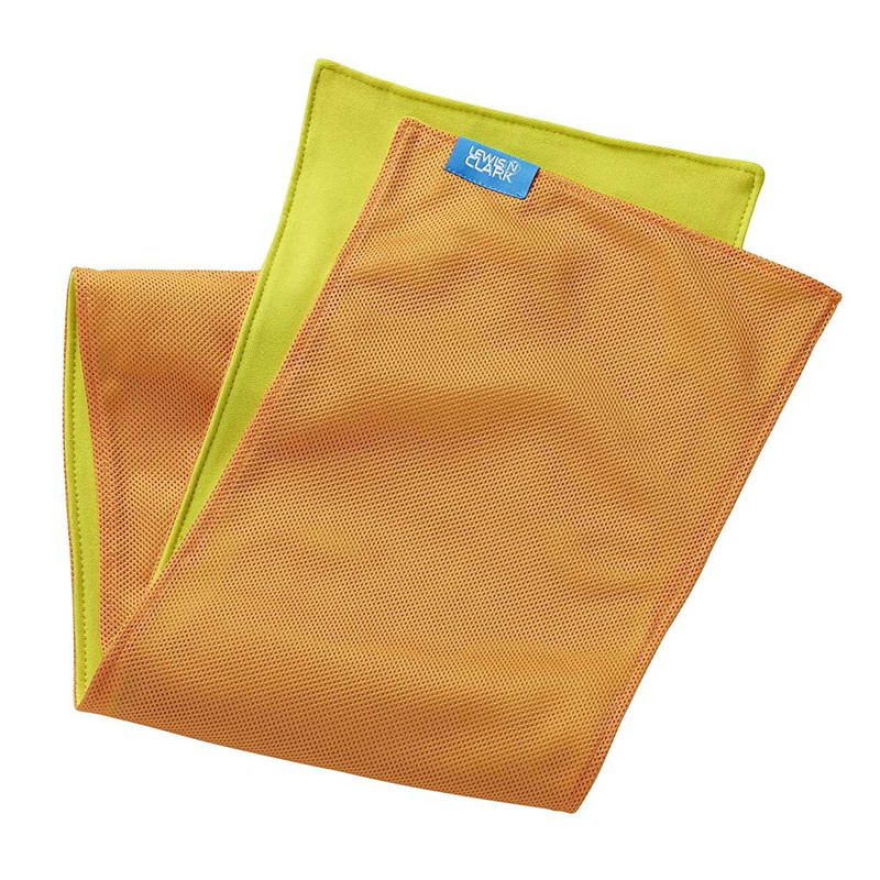 Lewis N. Clark Ice Mate Cool Towels in Orange Lime Color