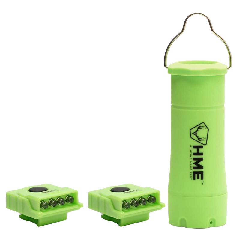 HME Apollo Green Flashlight Lantern With Mini Clip LED Lights