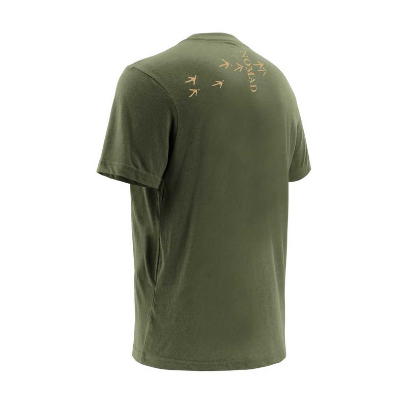 Nomad Turkey Tracks Long Sleeve T-Shirt in Military Olive Drab Color