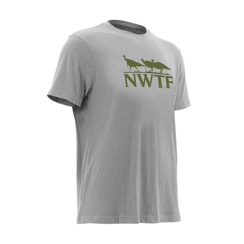 Nomad Turkey Tracks Long Sleeve T-Shirt in True Heather Gray Color