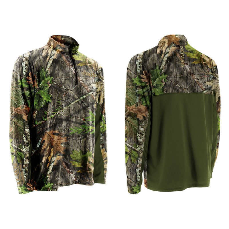 Nomad NWTF Quarter Zip Long Sleeve Cooling Tee in Mossy Oak Obsession Color