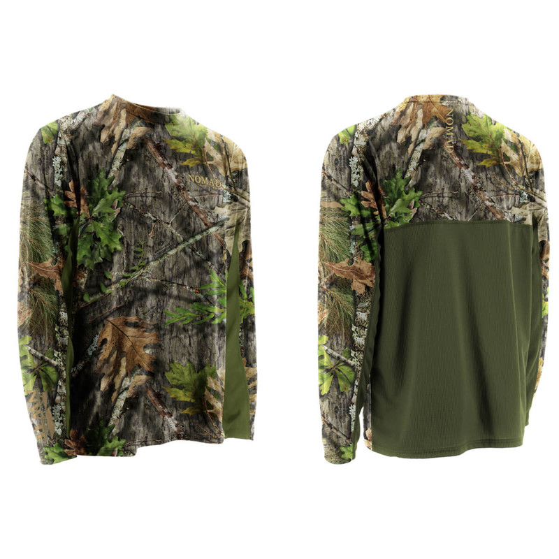 Nomad NWTF Long Sleeve Cooling Tee in Mossy Oak Obsession Color