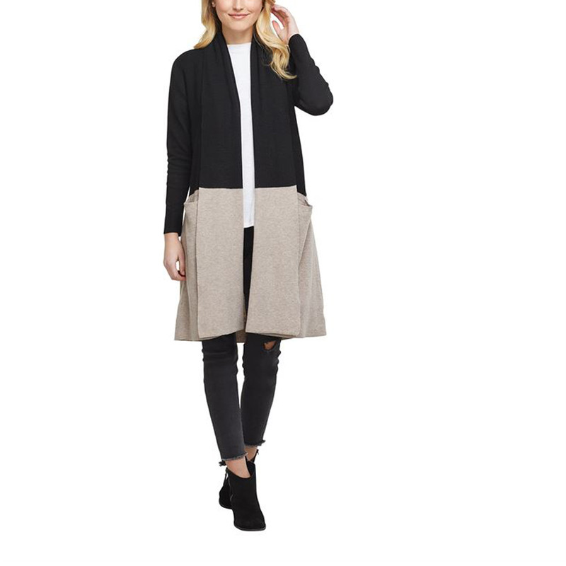 Mud Pie Ford Colorblock Cardigan in Black Color